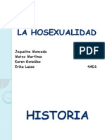 La Hosexualidad historia