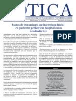 Pautas de Tratamiento Antibacteriano Inicial