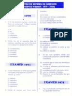Lenguaje Examenes Federico Villareal 1970 2009