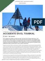 ACCIDENTE en EL TOUBKAL (1ENE15) Respuesta Federación Madrileña de Montañismo