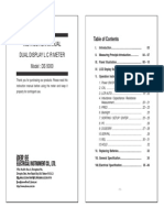 DER DE-5000 Manual