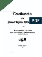 37695740 Teotihuacan o La Ciudad Sagrada de Los Tolteca