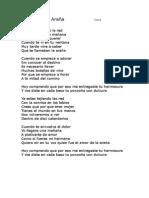 Ana Gabriel La Araña Letr1