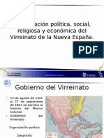 5Organización Política, Social, Religiosa y Económica Del Virreinato de La Nueva España