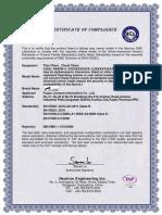 C35A CE EMC Certificate