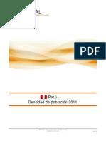 Densidad de Población Peru 2011