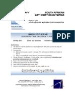South African Mathematics Olypiad 2012 Senior Sector