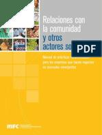 Relaciones con la comunidad y otros actores sociales