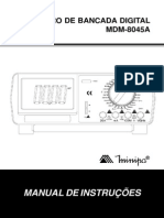 MULTÍMETRO DE BANCADA DIGITAL  MDM-8045A