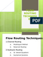 Flow Routing Techniques
