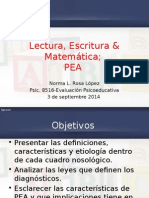 Presentación de Problemas Específicos de Aprendizaje