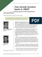 5 RFC Types in ABAP
