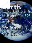 Issue 1 - Earth Is Huge and We Are All On It Zine