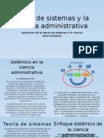 Teoria de sistemas y la ciencia administraticva