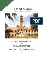 Aug Dec 2012 Course