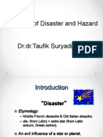 Overview of Disaster and Hazard 2014