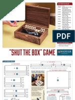 Shut the Box Diy Plan