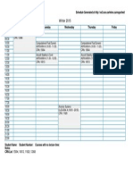 Winter 2015 Schedule