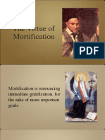Virtue of Mortification