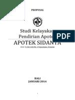 Proposal Studi Kelayakan Apotek