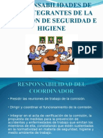Responsabilidades de Los Integrantes de La Comision Mixta