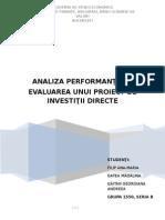 Proiect investitii