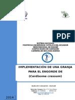 IMPLEMENTACIÓN DE UNA GRANJA PARA EL ENGORDE DE (Cardisoma crassum)