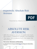 Hyperbolic Absolute Risk Aversion( Final Presentation)