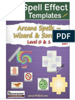 Arcane Spell Effect Templates - SW01 - Wizard & Sorcerer Spells - Level 0 & 1 (6744700)