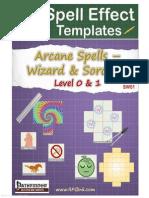 Arcane Spell Effect Templates - SW01 - Wizard & Sorcerer Spells - Level 0 & 1 (6744700)