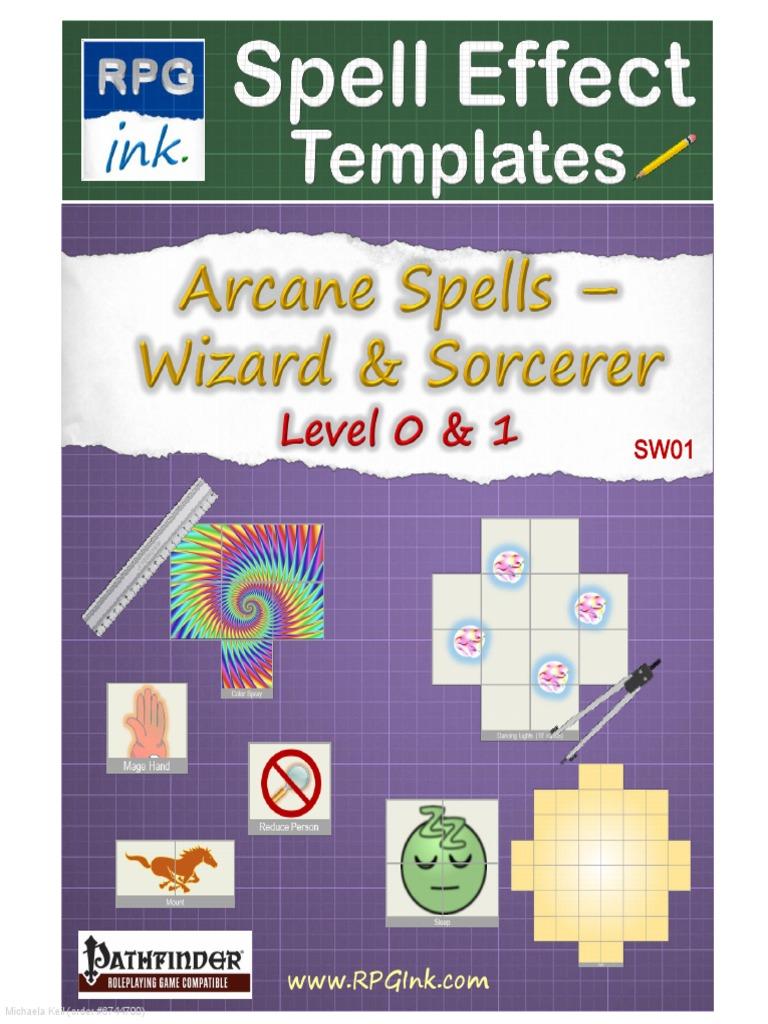 Arcane Spell Effect Templates