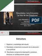 Encuesta La Voz de Los Directores Udp