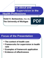 Perspectives of Supervision