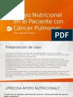 Apoyo Nutricional en El Paciente Con Cáncer Pulmonar