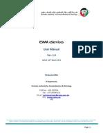 ESMA Manual