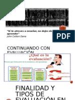 evaluación educativa CLASES DE 05 DE NOV