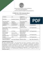 Matemática Básica 1 101-1-00-2014