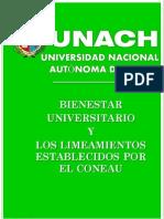 Of. de Bienestar y Los Lienamiento Del Coneau