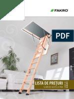 Fakro Lista de Preturi Scari de Acces La Pod Valabila Din 01.08.2013 53427