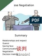 Chinese Negoatiation