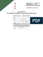 5th Annual Ice Fishing Derby Registration