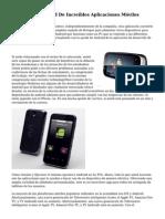 Plataforma Android De Incre?bles Aplicaciones M?viles
