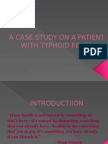 A Case Study on a Patient With Typhoid