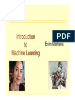 Minggu 1 Introduction to Machine Learning 2013