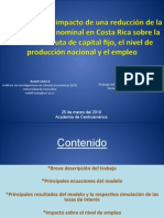 Lücke y Loría (2010) - Estimación del impacto de una reducción de la tasa de interés nominal en Costa Rica sobre la formación bruta de capital fijo, el nivel de producción nacional y el empleo