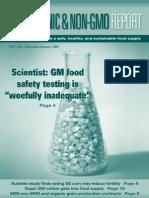 Organic & Non GMO Report Dec Jan 2009
