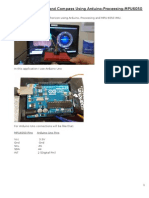 Artificial Horizon and Compass Using Arduino