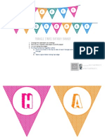 [Free] Printable Triangle Stripes Banner