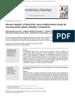 Absceso Hepatico y Fistula Biliar