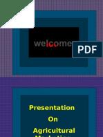 Presentation on Agricultural Marketing